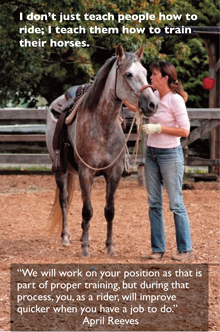 April Reeves teaches you how to train your horse
