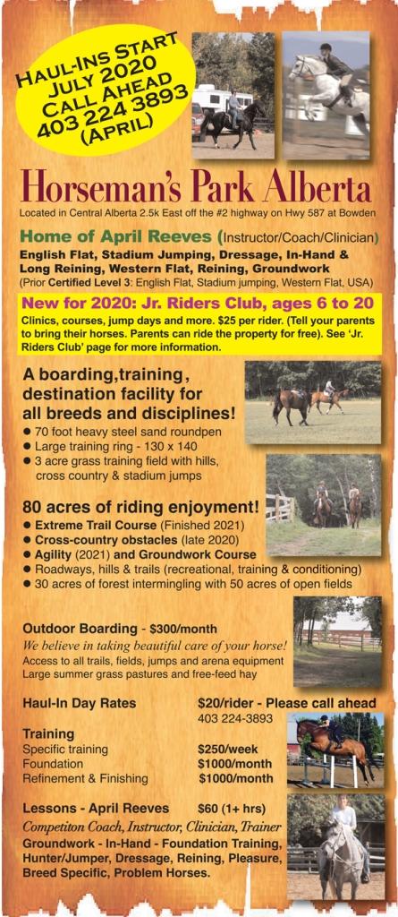 Horseman's Park Alberta - Trails, Jumping, Conditioning